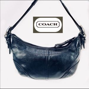 Coach Small Black Leather Hobo Bag